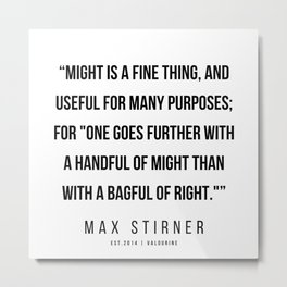 10    |Max Stirner | Max Stirner Quotes | 200604 | Anarchy Quotes Metal Print
