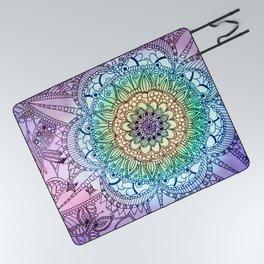 Purple Butterfly Mandala Picnic Blanket