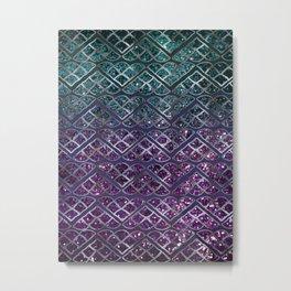 Purple Aqua MERMAID Glitter Scales Dream #1 #shiny #decor #art #society6 Metal Print