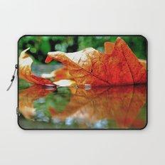 Autumn leaf reflected Laptop Sleeve