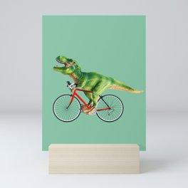 T-REX BIKE Mini Art Print