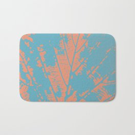 Autumn leaf blue Bath Mat