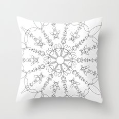 the flower we made Throw Pillow