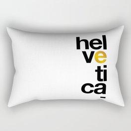 Helvetica Typoster #1 Rectangular Pillow
