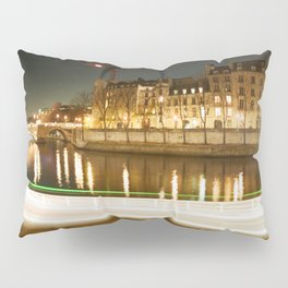 The Canal at Night Pillow Sham