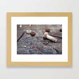The Nuts & Bolts  Framed Art Print