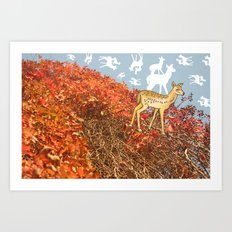 Deer Dreams Again Art Print