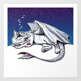 mv agusta f4 dragon Art Print