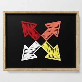 Colorful arrows Serving Tray