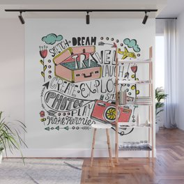 Travel Create Explore Wall Mural