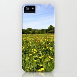 Wildflowers On Hampstead Heath, London, England iPhone Case