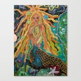 Mermaid and Baby Canvas Print
