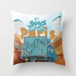 Sous le ciel de Paris Throw Pillow