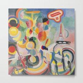 "Robert Delaunay ""Homage to Blériot"" (study) Metal Print"