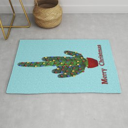Southwest Christmas Tree Rug