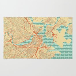 Boston Map Retro Rug