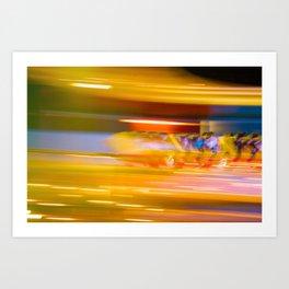 Night Light 131 - Roller Coaster Art Print