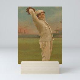 Vintage Backyard Baseball Player - Ames NY Mini Art Print