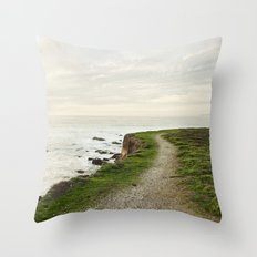 California Coast Trail Throw Pillow