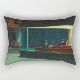 Nighthawks by Edward Hopper - 1942 Rectangular Pillow