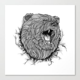 ANGRY BEAR Canvas Print