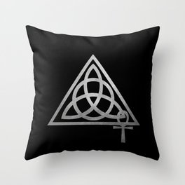 Cabot Temple Sigil Silver Throw Pillow