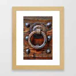 Door knocker Framed Art Print