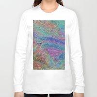 sofa Long Sleeve T-shirts featuring Sahel Kazemi's Sofa by RingWaveArt