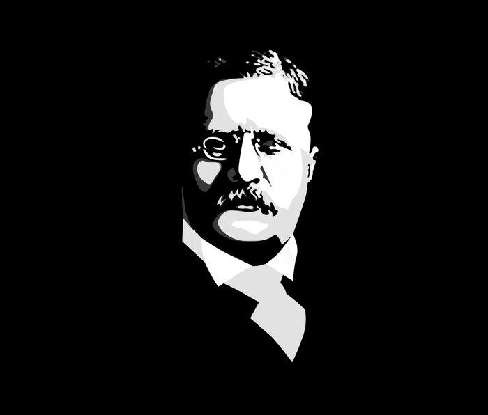 Teddy Roosevelt Metal Travel Mug