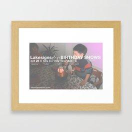 Lakesigns Poster - Birthday Tour 2011 Framed Art Print
