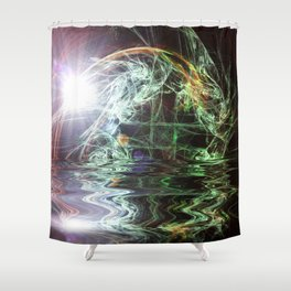 Fractal - Sunrise on the Planet GJ1214b Shower Curtain