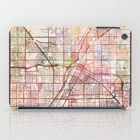 las vegas iPad Cases featuring Las Vegas by MapMapMaps.Watercolors