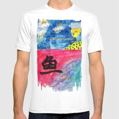 Sentiment Fishing Mens Fitted Tee White MEDIUM