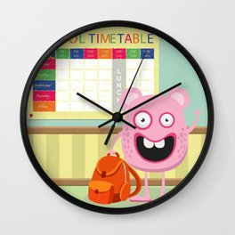 Monster School Wall Clock