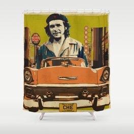 Retro Cuba design with car & Che Guevara Shower Curtain