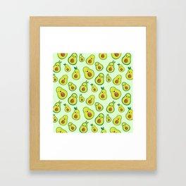Cute Avocado Pattern Framed Art Print