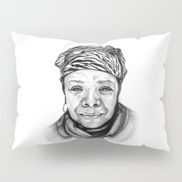 Maya Angelou - BW Original Sketch Pillow Sham