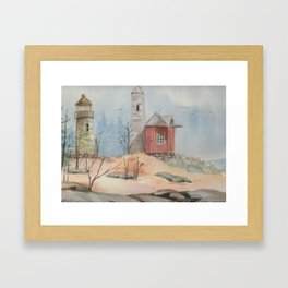 By the Seashore Framed Art Print
