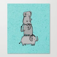 moomin Canvas Prints featuring Elephant Totem by Sophie Corrigan