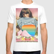 Internal Rainbow II Mens Fitted Tee MEDIUM White