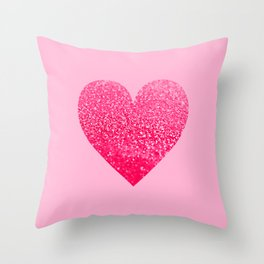 PINK PINK HEART Throw Pillow