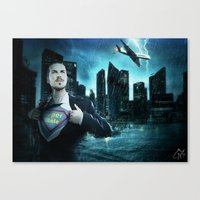 super heroes Canvas Prints featuring Heroes by Nessendyl