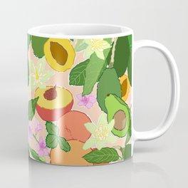 Avocado + Peach Stone Fruit Floral in Nectarine Coffee Mug