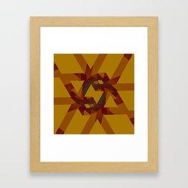 Interlocked Geometry Framed Art Print