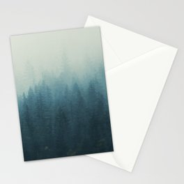 Into The Misty Nature - Turquoise II Stationery Cards