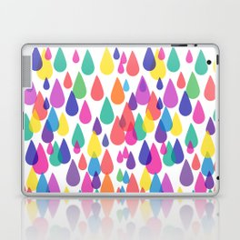 Rainbow Raindrops Laptop & iPad Skin