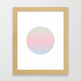 Cotton Round Framed Art Print