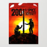 2001 a space odyssey Canvas Prints featuring 2001: A Space Odyssey by Dan K Norris