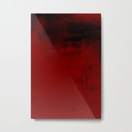 Abstract art in deep red Metal Print
