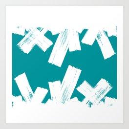 Viridian green/white crystall Art Print